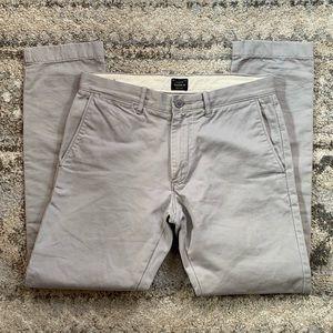 J. Crew 484 Broken In Lite Gray Chino Pants 30x30